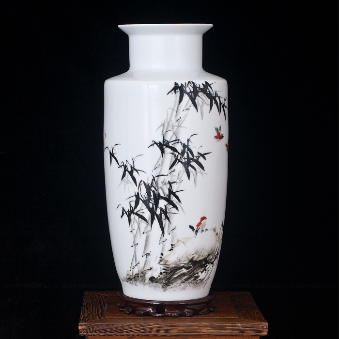 Jingdezhen ceramics modern and stylish desktop vase painted creative modern minimalist living room furnishings swing