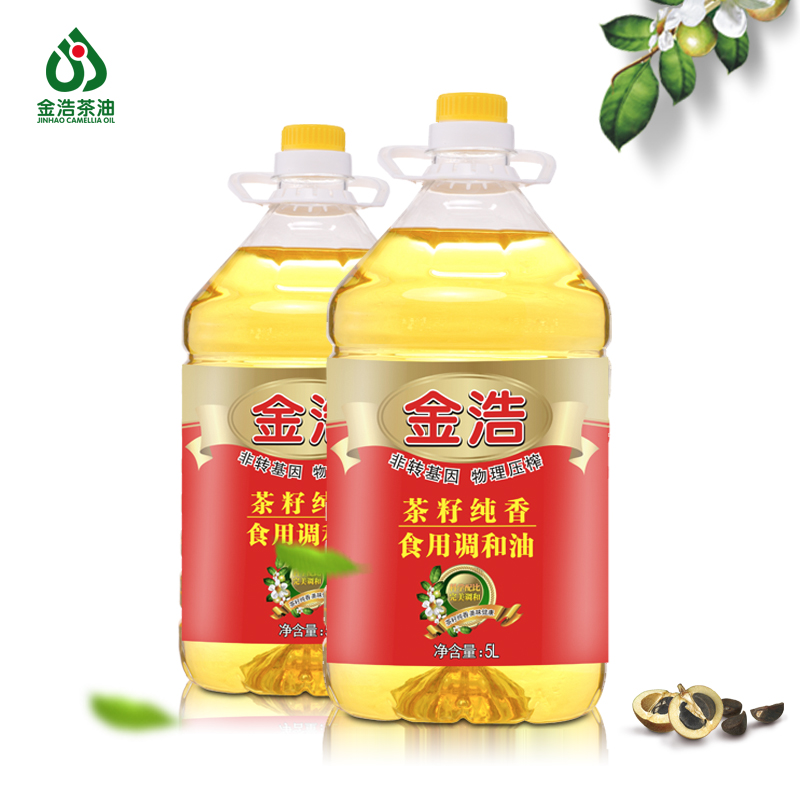 Jinhao pure incense rapeseed edible oil camellia tea seed oil sunflower seed oil physical squeezing edible oil 5l * 2