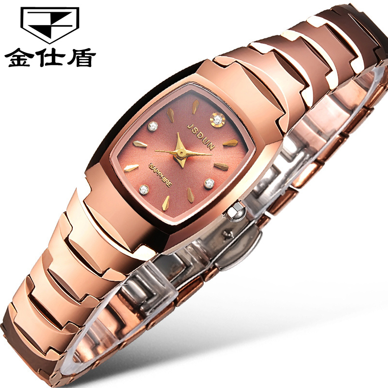 Jinsdon authentic watches tungsten steel waterproof watch ladies fashion watch quartz watch female form couple tables one pair