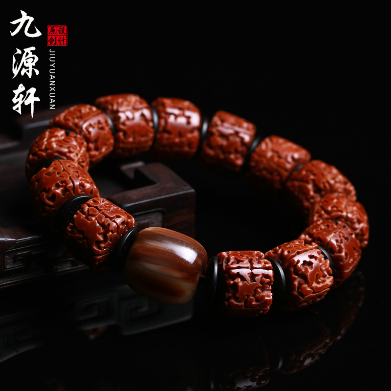 Jiuyuan xuan natural toothless donkey kong pu tizi redskins density polishing man playing tibetan prayer beads bracelet bracelets men and women