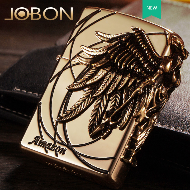 Jobon bang arc usb charging lighter windproof lighter creative personality slim metal electronic cigarette genuine