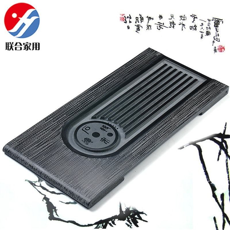 Joint household natural black stone black stone tea tray kung fu tea tray black stone sea stone tea sets tea tray