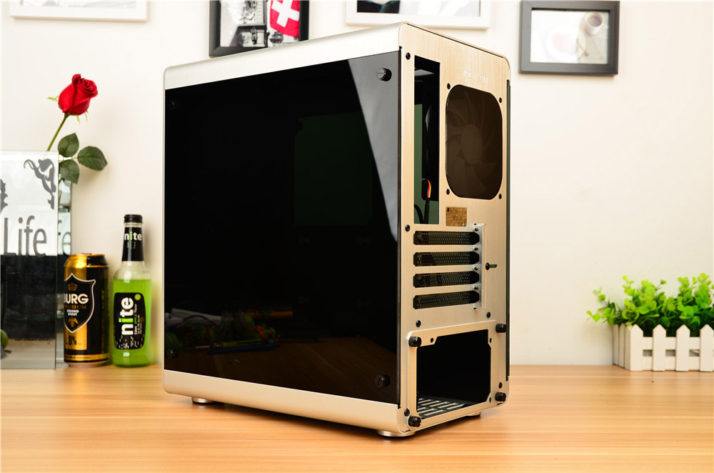 Jonsbo/qiao sibo rm3 matx double desktop chassis side through aluminum silver/black/red
