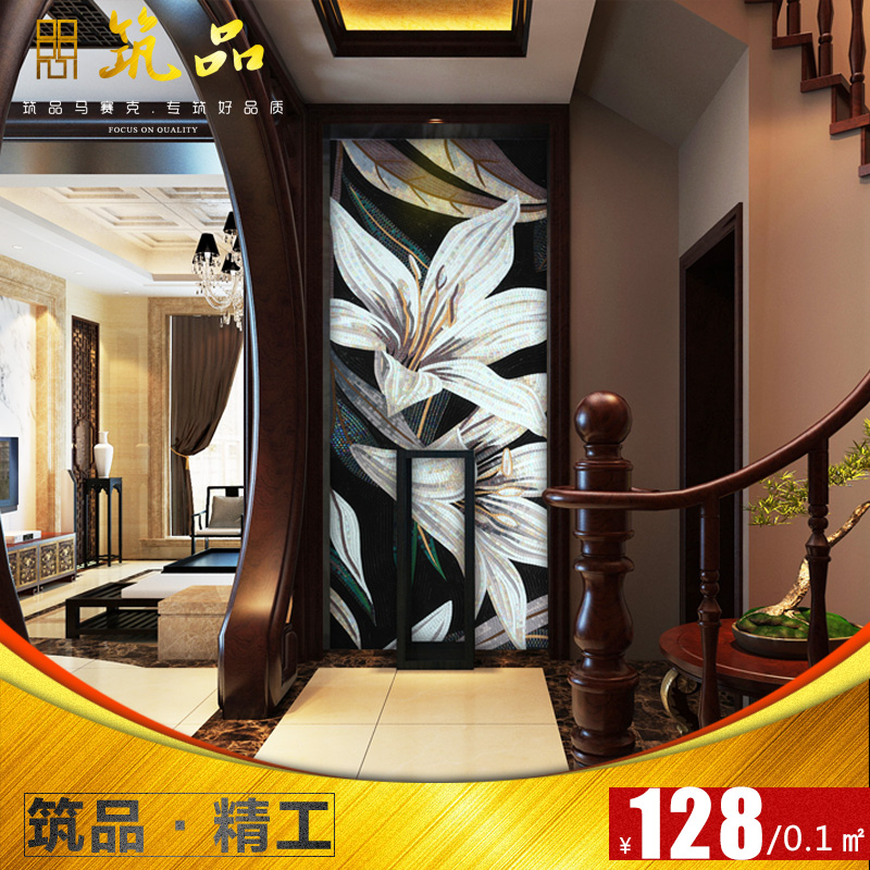 JQH119 baihe.com cut ice jade crystal glass mosaic tile mosaic backdrop