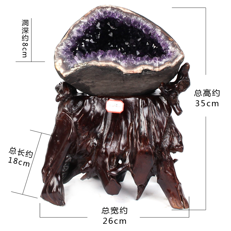 Jr/jing ru natural uruguay amethyst geode cornucopia ornaments druse wholesale amethyst original stone without cement