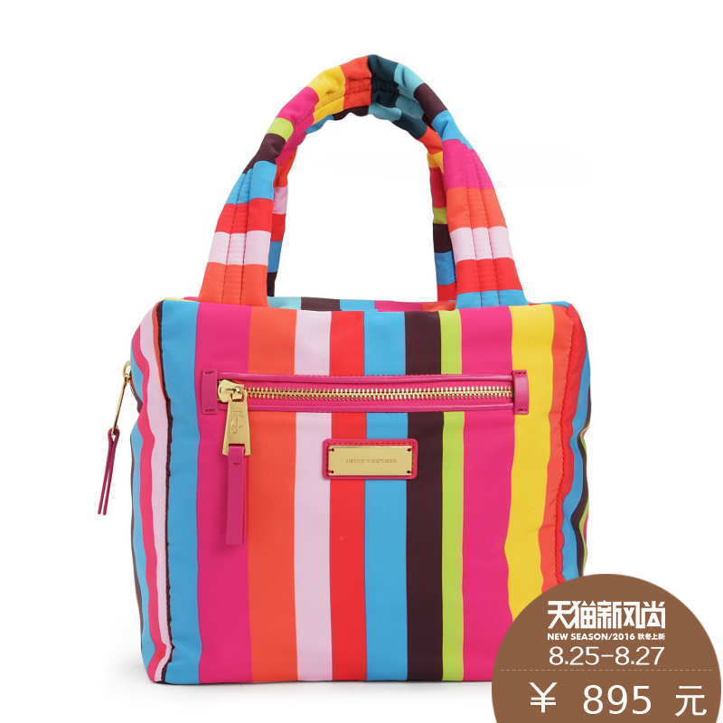Get Quotations Juicy Couture Whb355 Bright Rainbow Stripes Bag