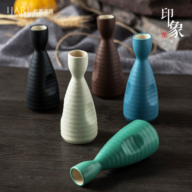 Ka billion creative japanese ceramic tableware small jug of sake wine liquor points home wine bottle