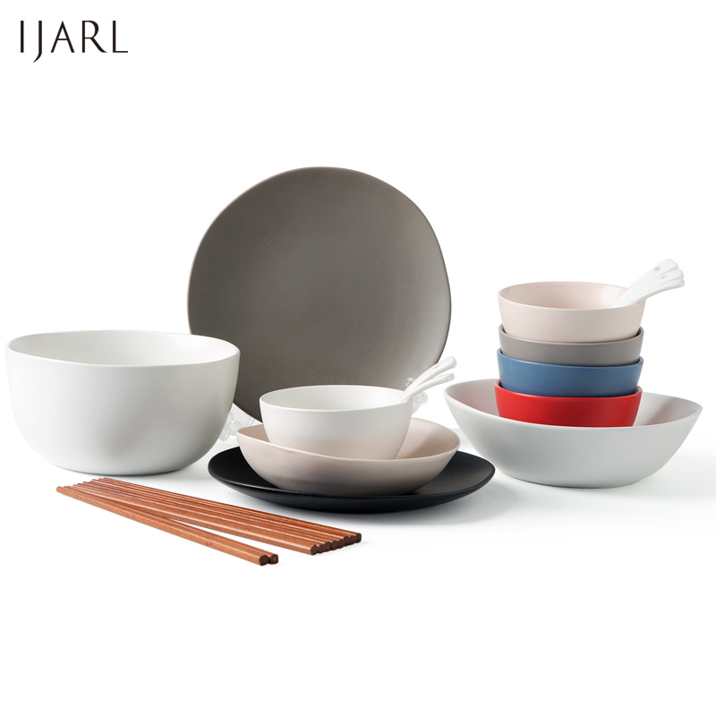 Ka billion european fashion creative minimalist ceramic tableware household utensils cutlery sets dishes suit cutlery couple