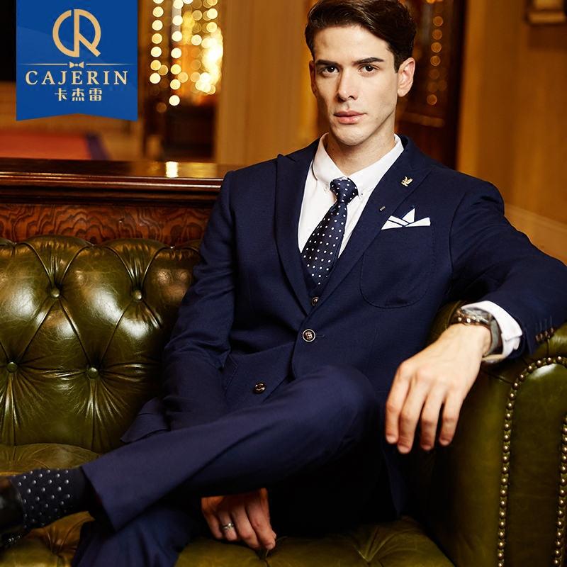 Ka jielei 2016 fall and winter suits men slim business suits wedding dress suits tuxedo groomsmen suits