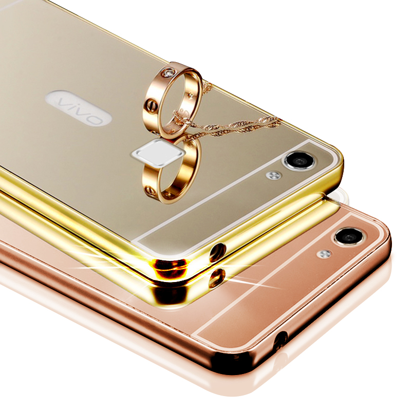 Kabob division x6s phone shell mobile phone shell protective sleeve vivo bbk x6a mirror metal frame back cover popular brands female models