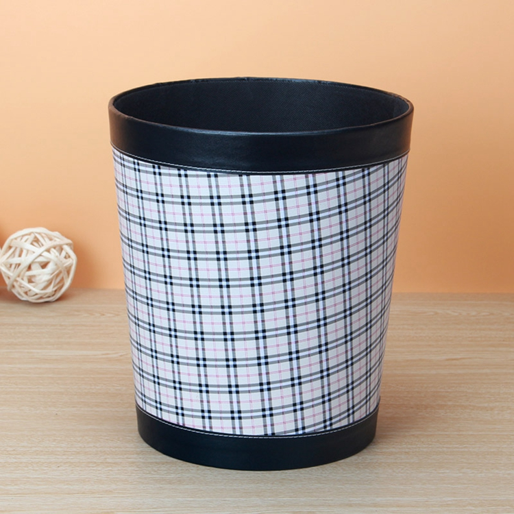 Kafu lan boutique leather round wastebasket trash barrel storage barrels creative fashion bedroom den shipping