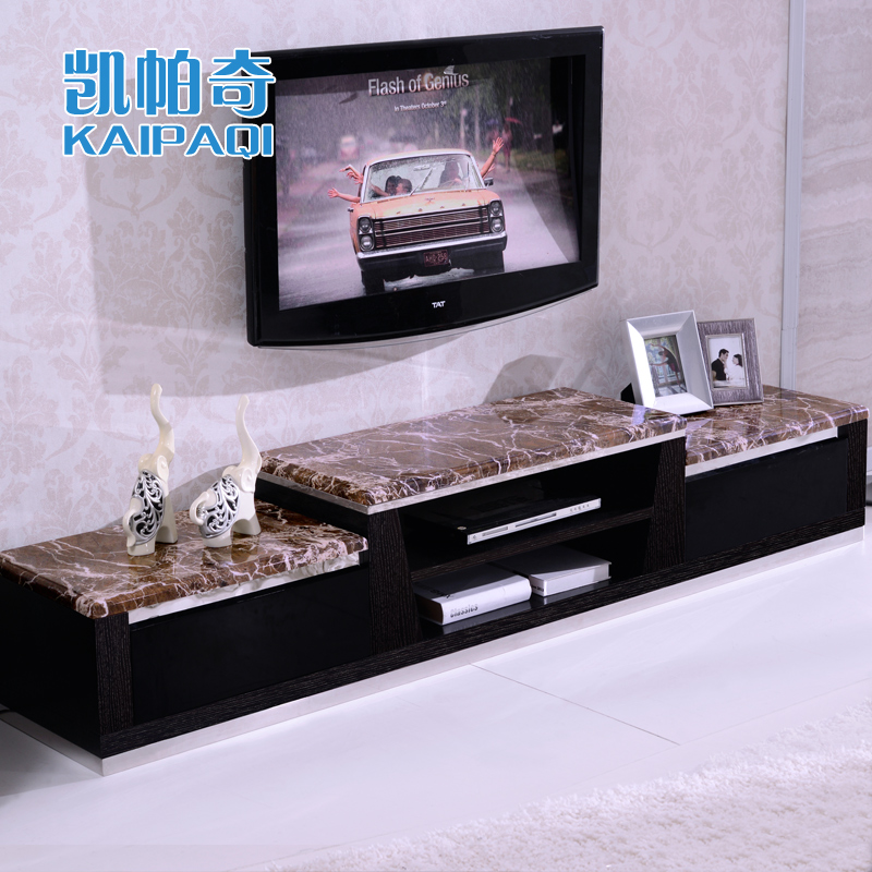 Kai paqi marble living room tv wall cabinet tv cabinet coffee table combination package minimalist modern paint cabinet
