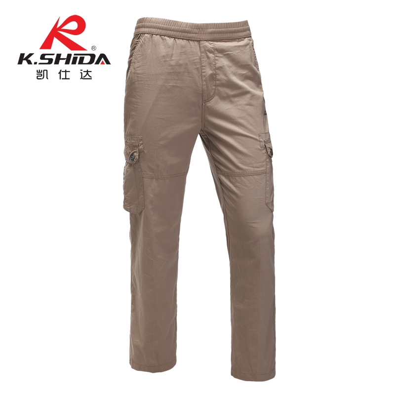 Kai shida new spring and summer large size men's casual pants outdoor sports pants pocket loose field training