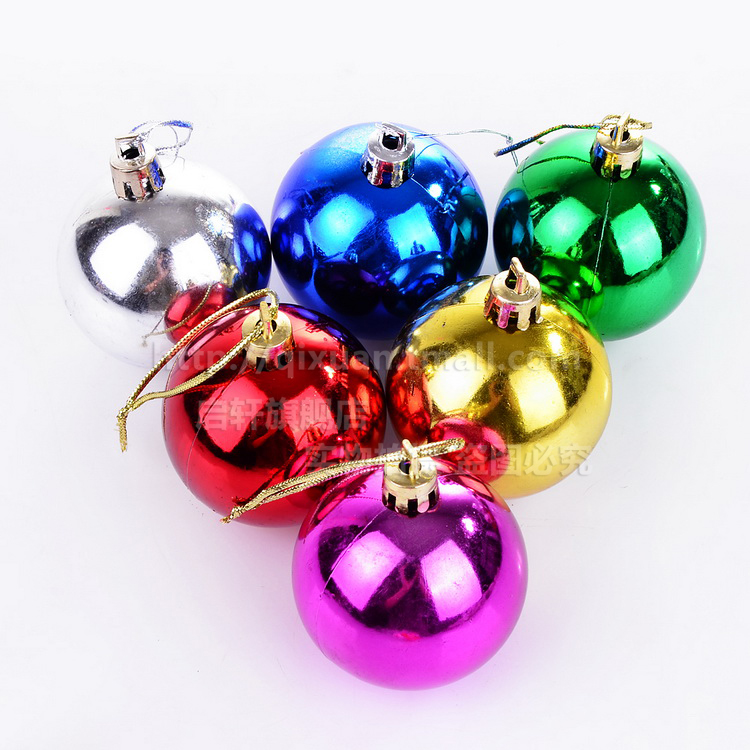 Kai xuan 5cm accessorise dress bright ball of light ball christmas tree decorations christmas ornaments christmas supplies 6/pack