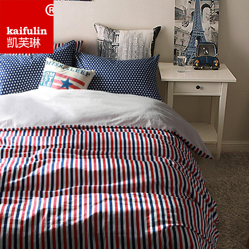 Kaifu lin cotton denim cotton bedding linen quilt korean version of the scandinavian minimalist 1.8 m 1.5