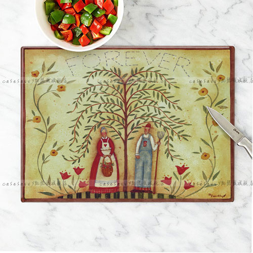 Kaiser jorvi love the world of unleaded tempered glass cutting board chopping cutting board cut fruit chopping board antibacterial and easy to clean