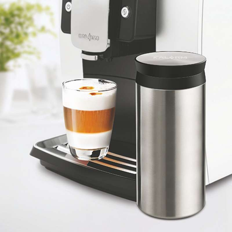 Kalerm/coffee konami automatic coffee machine parts milk cans 600 ml double stainless steel vacuum insulation
