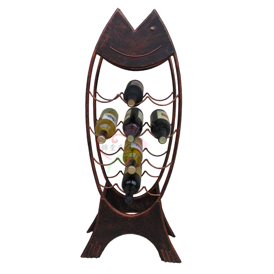 Kam tong chun floor wine cooler european style wrought iron wine rack wine rack wine exhibition cabinets winery wine rack creative home