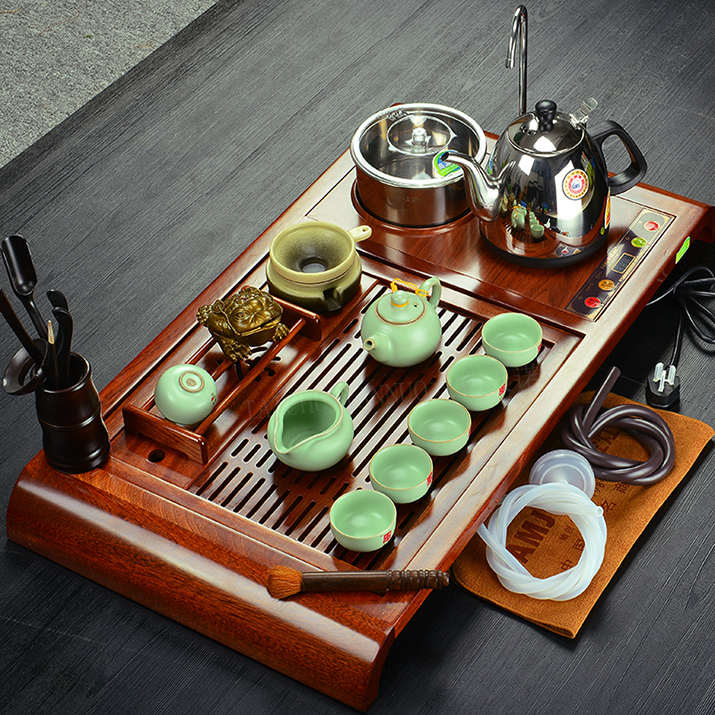 Kamjove/gold stove r180a four wood tea tray entire kung fu ru yixing tea set specials