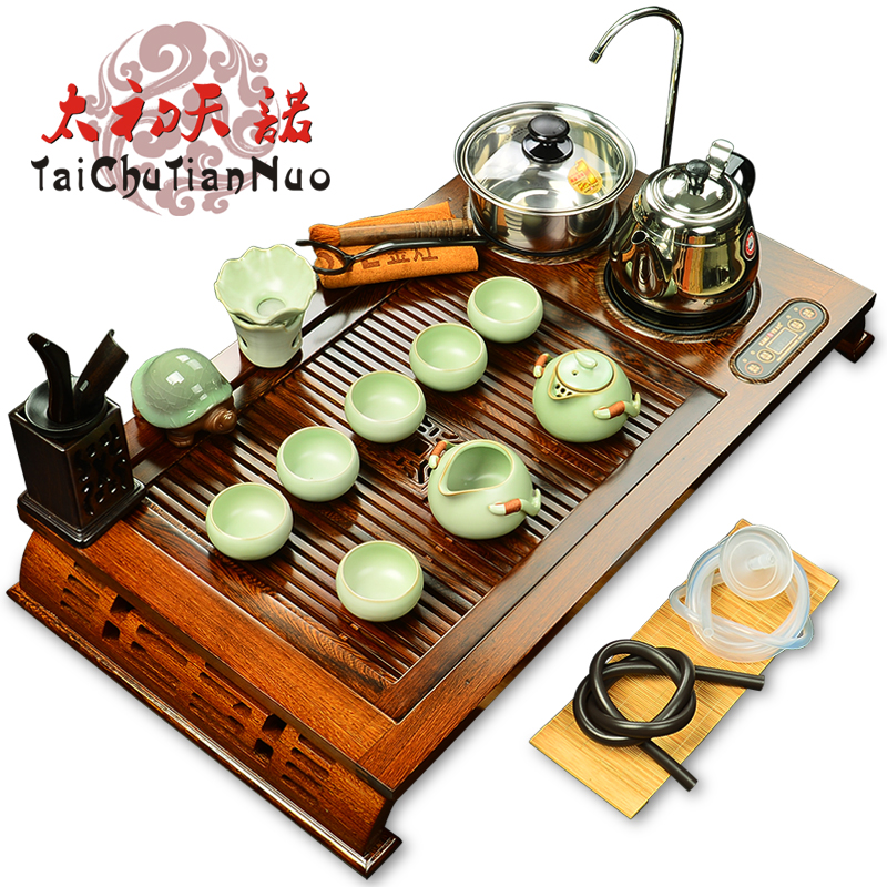 Kamjove/gold stove V210A solid wood wenge wood tea tray tea taiwan kung fu ru kiln yixing tea set