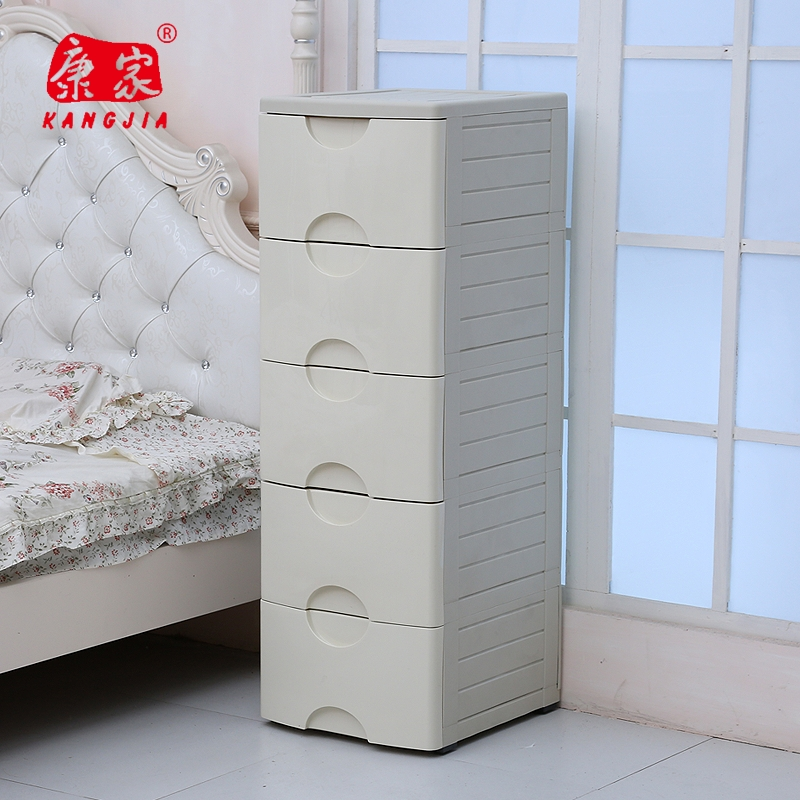 Kang genuine thick plastic drawer storage cabinets green bedroom nightstand bedside cabinet storage lockers baby wardrobe finishing