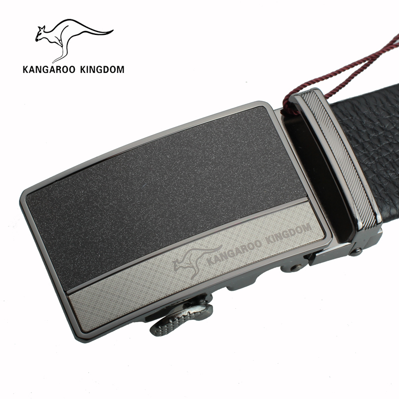Kangaroo genuine leather men's leather belt first layer of leather belt leather belt automatic buckle casual no good tide