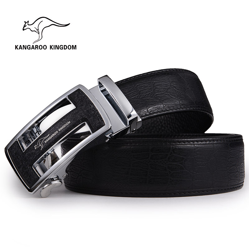 Kangaroo leather men's leather belt pure leather belt male automatic buckle belt leather casual belt male youth aged crocodile belt