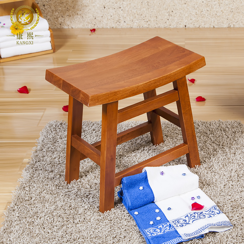 Kangxi oak wood stool stool stool vanity benches bathroom stool changing his shoes small stool stool tall wooden bench wooden bench stool stool lucky
