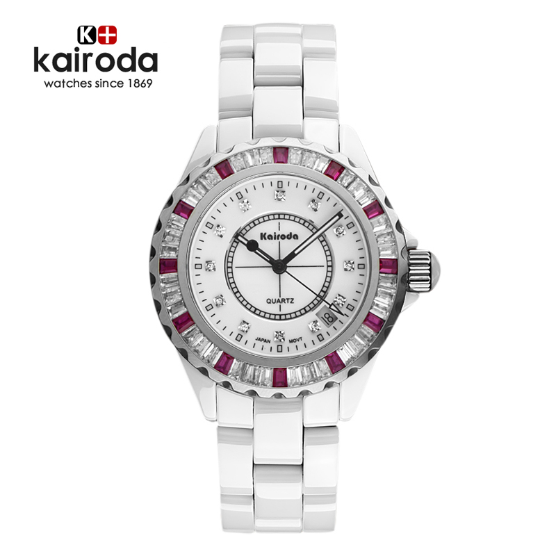 Karui da authentic white ceramic watches diamond watches couple watches korean female form waterproof watch fashion female form