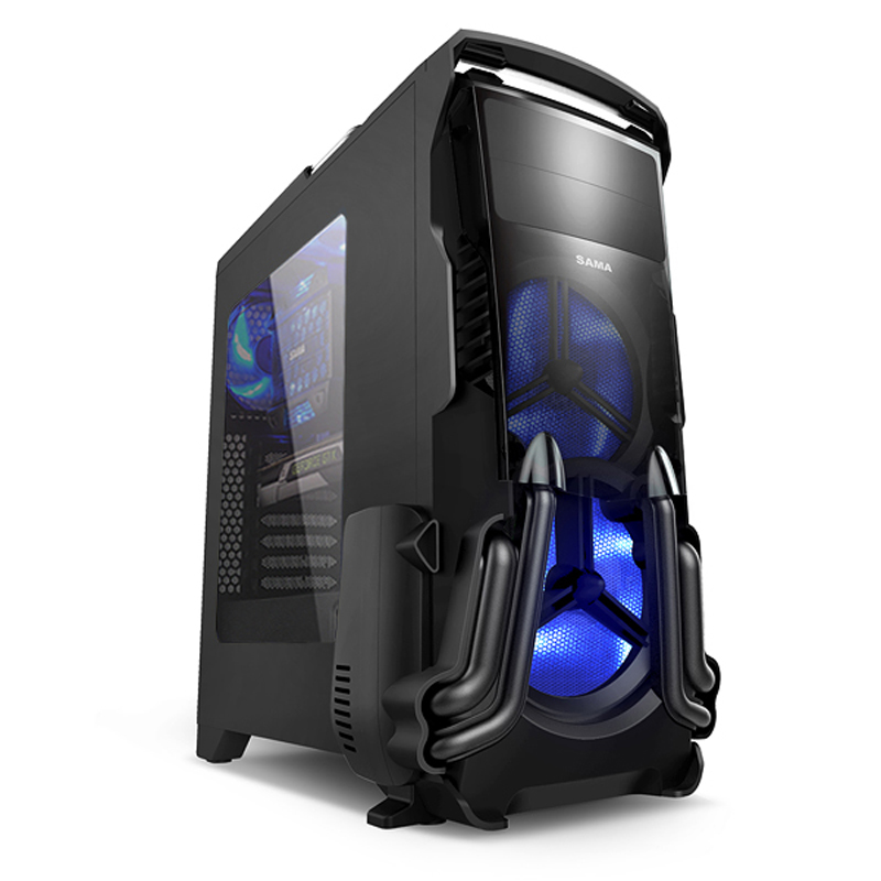 Kasa ding mod gaming gaming chassis first horse large desktop computer chassis side through the back line u3 cool styling