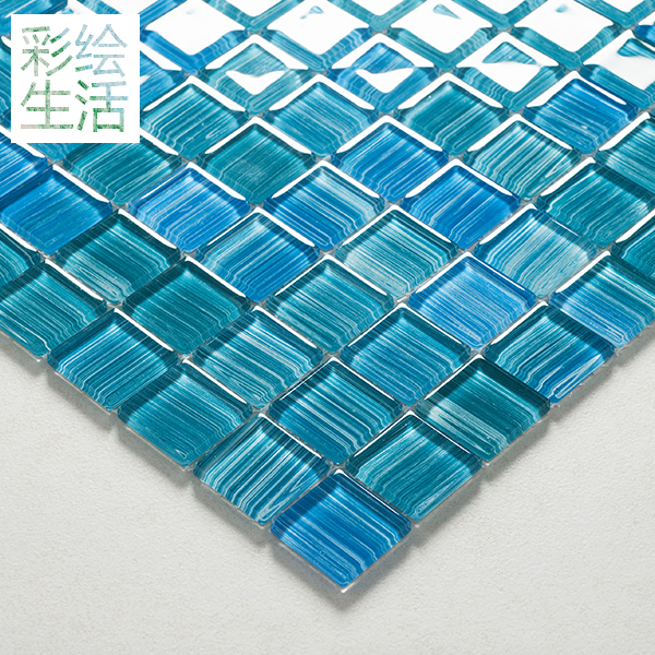 Kasaro euclidian painted crystal glass mosaic glass mosaic tile backdrop decoration materials