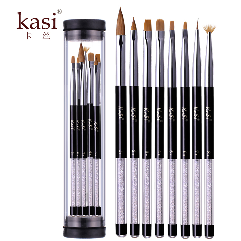 Kasi nail phototherapy pen 8 3æ¯suit glitter sequins flower painting crystal painting pen pen carved pen brush tool