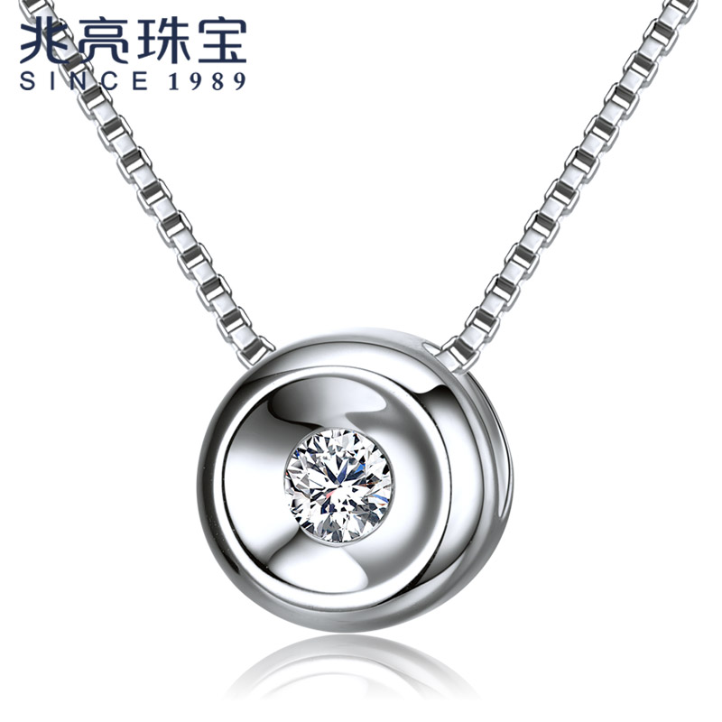 Katherine silently k white gold jewelry female models polka dot diamond k rose gold pendant pendant genuine counter
