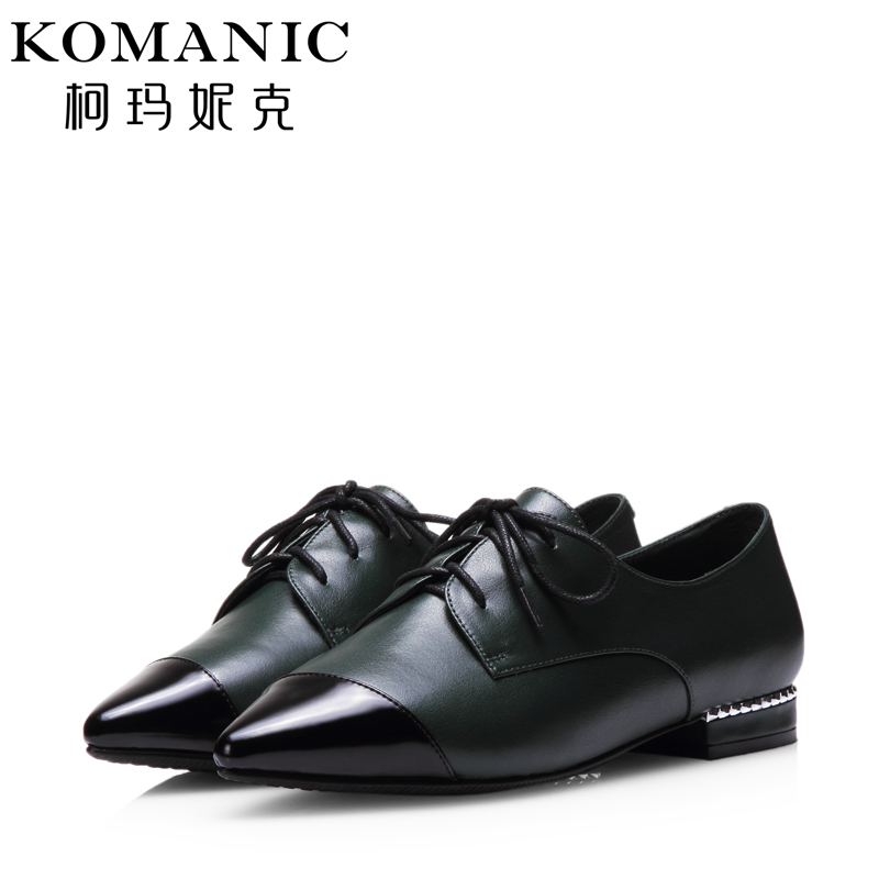 Kema penny autumn british style trend of casual spell color fashion low heel shoes deep mouth pointed shoes women