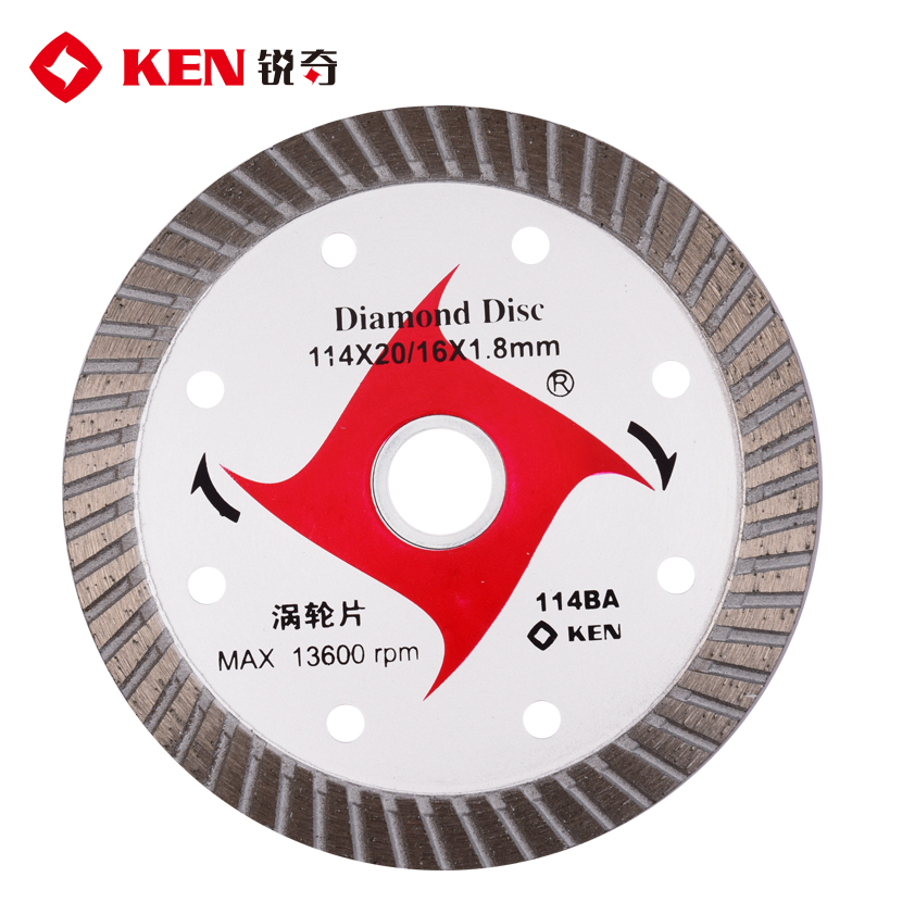 Ken ken multi stone diamond cutting discs concrete masonry cutting slotted piece of marble marble