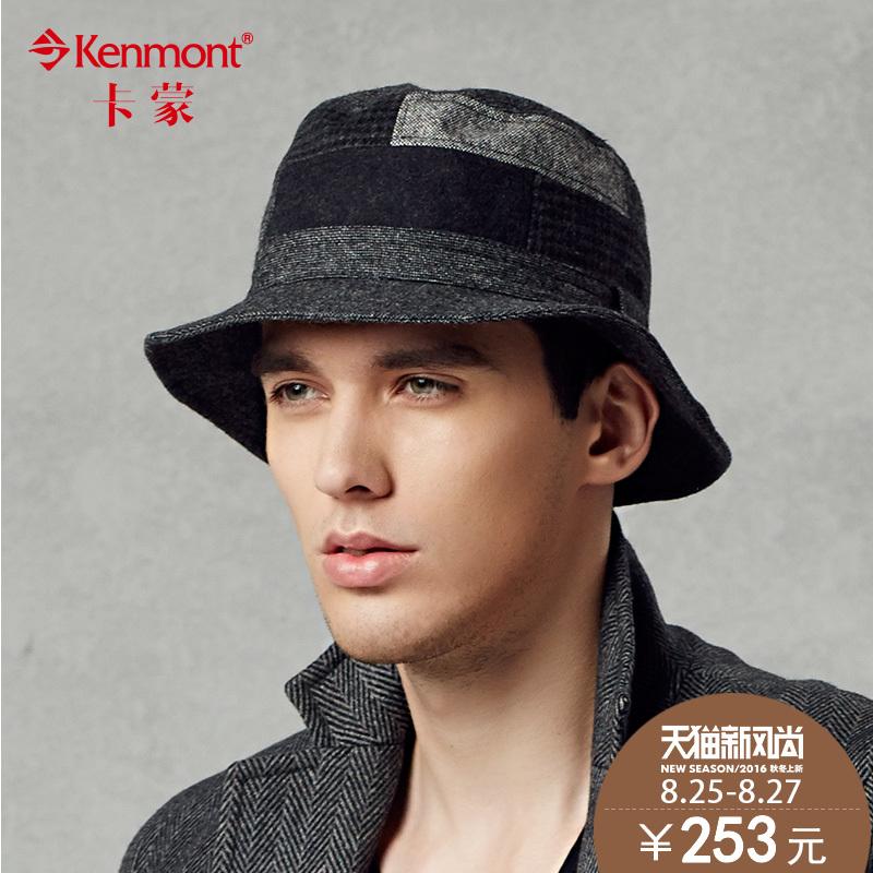 53a203452c8 Get Quotations · Kenmont autumn and winter in the elderly male british retro  woolen hat fisherman hat bucket hats