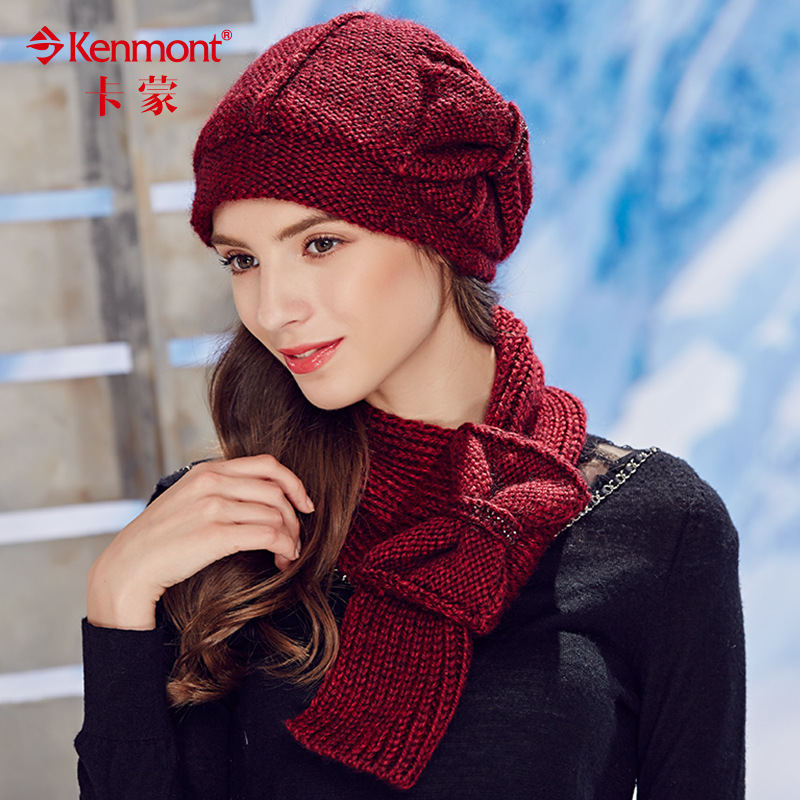 Kenmont winter wool scarves korean female winter knit bow ms. long wool scarf warm scarf