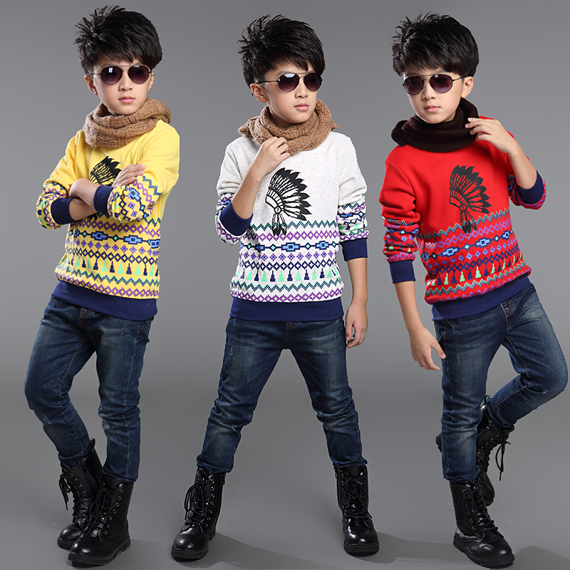 Kids boys spring and autumn 2016 new korean boy big virgin child bottoming shirt 10 boys long sleeve t-shirt 13-15-year-old