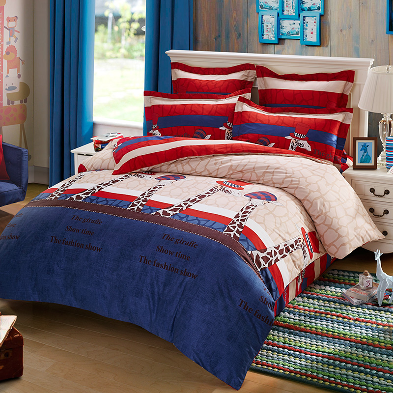 Kids children's sleep treasure bedding suite cotton health printing a family of four a variety of styles optional