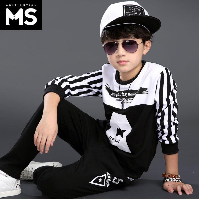 Kids children's suits boy suit autumn 2016 new big virgin boy sports 11 menswear autumn 10 men and boy children 12 years old 15