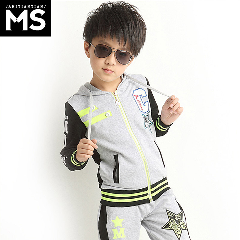 Kids children's suits boy suit autumn 2016 new wave of spring spring big virgin boy casual sports spring and autumn suit children suit