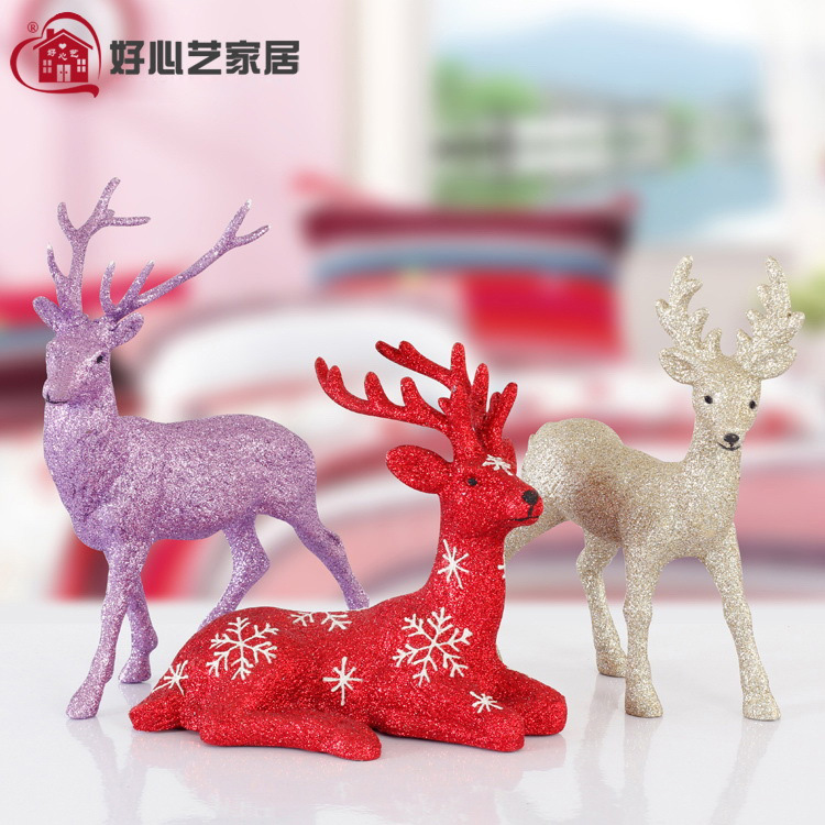 Kindly arts christmas gifts christmas deer ornaments home accessories gift ornaments creative desktop