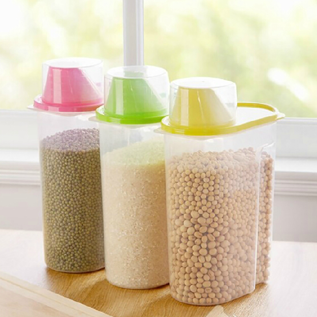 King 2.5l food grade pp material resistant storage easy pour grains whole grains storage box storage jar sealed cans