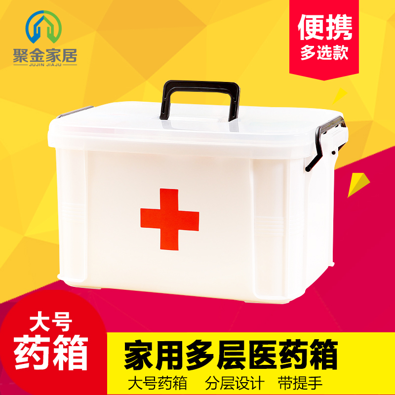 King family medicine cabinet storage box medicine box home medicine cabinet bao jianxiang first aid kit medicine storage box for home use