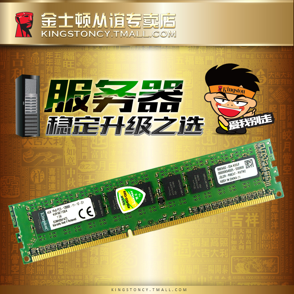 Kingston kingston ddr313332g compatible computer memory 4 gb 1600 ecc server 1333 shipping