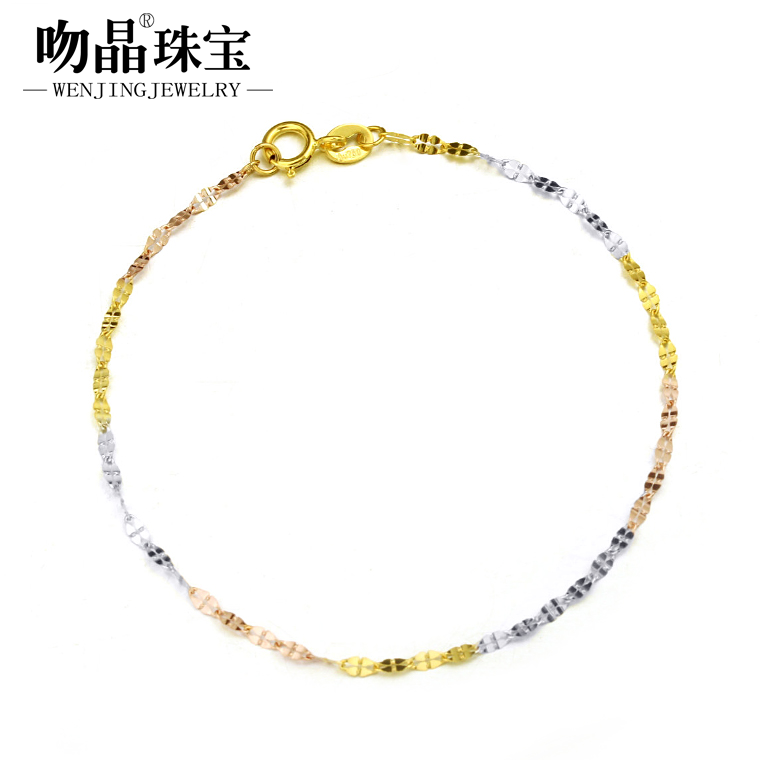 Kiss crystal k k gold bracelet gold bracelet female models clover color gold platinum rose gold bracelet genuine