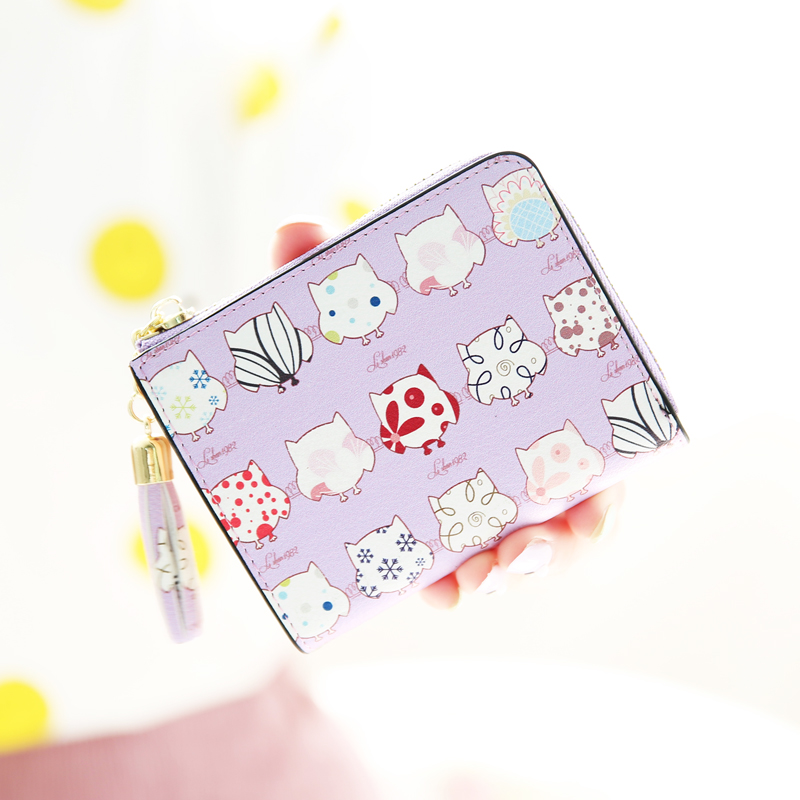 Kiss mekiss ME2016 new summer new korean version of the cartoon printed short paragraph wallet student