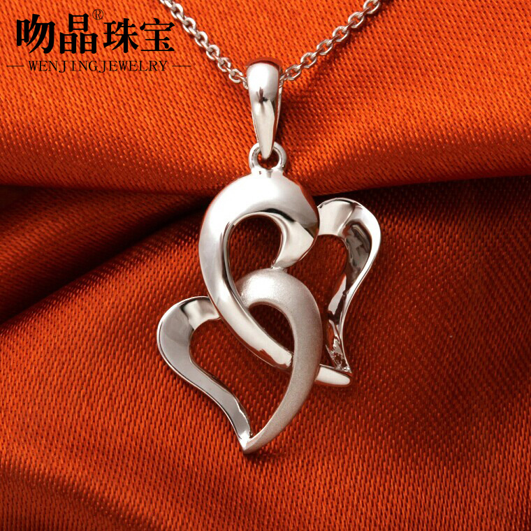 Kiss nearand new authentic pt950 platinum pendant platinum pendant female models crystal pendant to send his girlfriend a gift