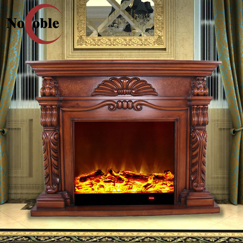 Knox fort club villa handmade solid wood carved continental fireplace decoration cabinet fireplace mantel fireplace tv cabinet custom
