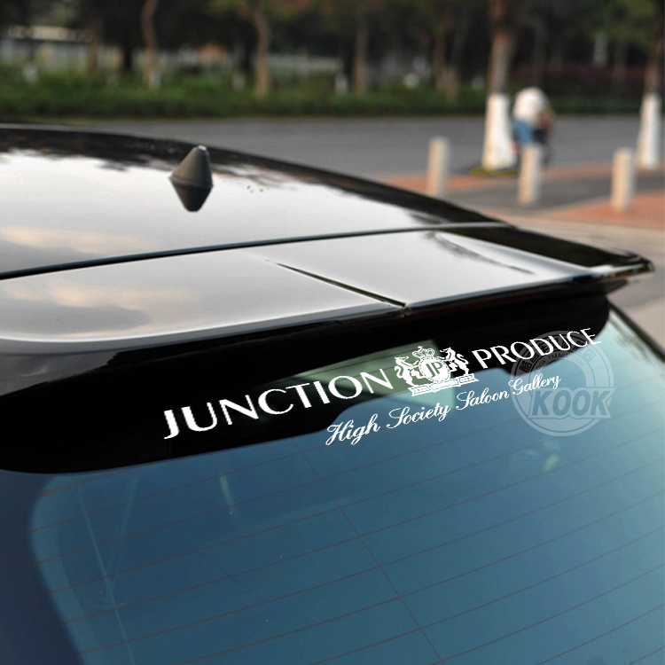 Kook jp reflective front windshield stickers car stickers modified rear fender pierced the windshield windshield stickers car stickers affixed to the windshield stickers